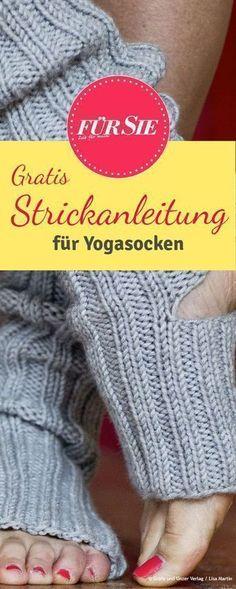 Diese bequemen Yoga-Socken helfen Ihnen durch wirklich jede Yogaübung. Die passende Anleitung zum Nachstricken finden Sie hier. #yogasocks