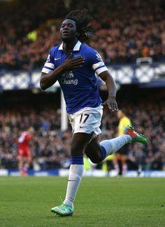 Romelu Lukaku of Everton FC against Southampton FC