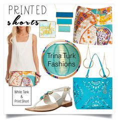 """The Cutest Shorts...Print Shorts"" by onesweetthing on Polyvore featuring Trina Turk, Cultural Intrigue and printedshorts"