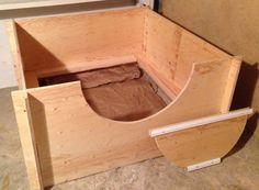 Whelping Box Construction Plans Hound Puppies, Basset Hound Puppy, Welping Box, Dog Whelping Box, Dog Birth, Diy Slides, Puppy Room, Puppy Palace, Pregnant Dog