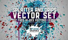 A Collection of High Quality Vector Splatter for Free Download