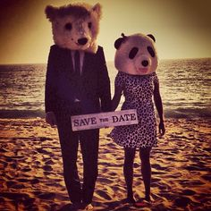 1 year ago today, I proposed to this panda in Thailand. - sean lowe