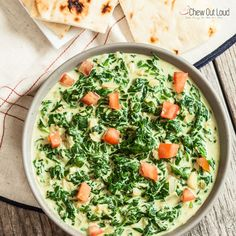 This Easy Indian Creamed Spinach is reminiscent of the popular spinach dish (Saag/Palak) served at Indian restaurants. This version is incredibly fresh, easy, and scrumptious! Back in Cali, Hubby and I made it our weekly mission to have lunch at our favorite Indian hole-in-the-wall. I'd habitually order the chicken tikka masala and the tandoori chicken....Read More »