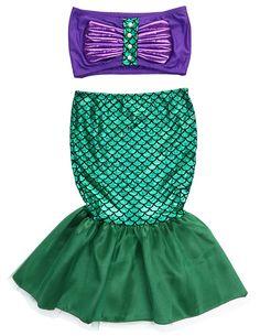 41595ca104 Sirena cola princesa ariel vestido cosplay disfraz niños para chica elegante  vestido verde
