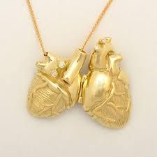 Gold anatomical heart