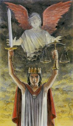 XI. Justice: Tarot of the Angels