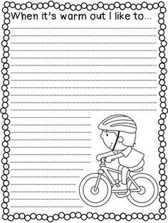 Spring Writing Prompts- 27 fun writing prompts for the warmer months! Use at a writing center, for early finishers, morning work, or emergency sub plans. Then hang for a fun bulletin board! Use for practice with expository, narrative, and poetry writing.