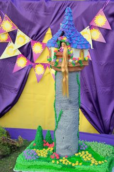 Krown Kreations & Celebrations 's Birthday / rapunzel, tangled - Photo Gallery at Catch My Party Tangled Birthday Party, Disney Princess Birthday Party, Birthday Parties, Birthday Ideas, Birthday Cake, 4th Birthday, Rapunzel Cake, Tangled Rapunzel, Tangled Tower