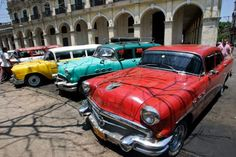 """""""Yank tank"""" are words  describing 1950s-60s classic cars in Cuba with an est. 60,000 still in use. In 1962 the U.S. placed a trade embargo with Cuba. So, the only way to keep cars roadworthy was replace- ment of original parts with Soviet alternatives and careful maintenance. If cars cannot be repaired immediately, they're  parked for future repair or sold, with known faults for parts. This has become the Cuban car culture and means other cars remain on the road by using second hand parts."""