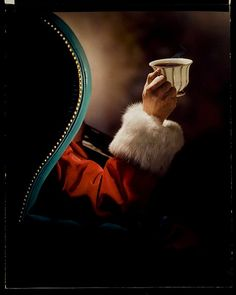 Thanks to Linda Neubauer for finding and pinning this great addition to our Santa Collection!  A, COFFEE, SANTA CLAUS by George Eastman House, via Flickr