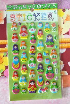 Matryoshka doll stickers