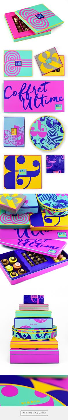 Bo & Bon - Branding for Chocolate Shop & Packaging by Miller Creative New Jersey curated by Packaging Diva PD. A boutique chocolate and confectionary shop founded by a young French couple, and is bas (Chocolate Color Design) Cool Packaging, Print Packaging, Packaging Design Inspiration, Graphic Design Inspiration, Identity Design, Logo Design, Brand Identity, Folders, Chocolate Shop