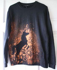 Unicorn, kitsch, tie dye, galaxy, grunge 90's, Sweatshirt jumper sweater, urban | eBay