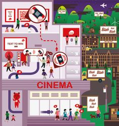Crush | DCM - Making the Cinema Experience Bigger Map Illustration Cinema Experience, Infographic, Crushes, Projects To Try, Map, Illustration, How To Make, Infographics, Location Map