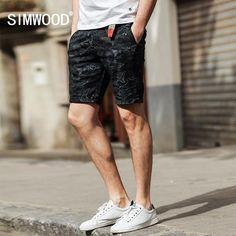 FuzWeb:SIMWOOD Summer New Shorts Men Ocean Dolphin Cotton Clothing Slim Fit Plus Size XD017004