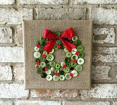 cool Christmas burlap button wreath art by www.dana-home-dec. - Home Decors - awesome cool Christmas burlap button wreath art by www.dana-home-dec…… by www.danazhomedeco… I - Diy Christmas Decorations Easy, Easy Christmas Crafts, Noel Christmas, Christmas Projects, Christmas Wreaths, Christmas Gifts, Christmas Ornaments, Decoration Crafts, Diy Crafts