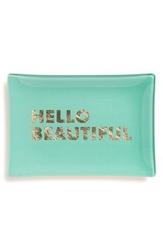 Fringe+Studio+'Hello+Beautiful'+Glass+Trinket+Tray+available+at+#Nordstrom