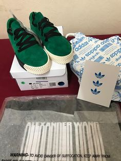 UK 4.5 (M) Alexander Wang Green Skate Shoes x Adidas Originals x Size 6 US (W) #DASORIGINALSBYAWSKATESHOES #SkateShoes