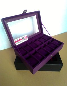 5ff2b6421e23 Kotak Jam Tangan isi 12 slot Ungu Full IDR 140 K Weight   2kg On Packing  Wa  085799087500