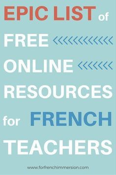 Free Online Resources For French Teachers – For French Immersion – Epic list o… - Pin Hairs Teaching French Immersion, French Language Learning, Learning Spanish, Spanish Lessons, Spanish Language, Second Language, Spanish Activities, Dual Language, Learning Italian