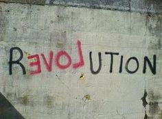 love. Revolution graffiti