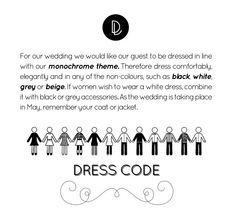 Reminder message we sent guests about dress code