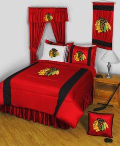 Chicago Blackhawks Sidelines Comforter 27082   Polyester