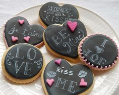 Valentine Chalkboard Cookies (or for a wedding!)