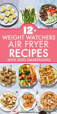 With the air fryer, you can enjoy delicious healthy, low calorie meals, sides and snacks! These weight watchers friendly recipes are not only simple and easy, but have zero smart points! Get inspired Healthy Low Calorie Meals, No Calorie Foods, Low Calorie Recipes, Ww Recipes, Healthy Eating, Healthy Recipes, Filling Low Calorie Meals, Detox Recipes, Recipies