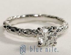Flora Vida Solitaire Round Cut Diamond Engagement Ring