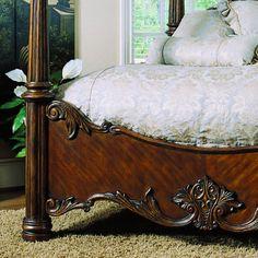 pulaski edwardian bedroom - King post bed footboard