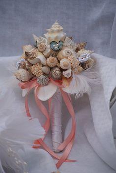 Seashell Bouquet / Beach Bouquet Deposit for Custom Order. $50.00, via Etsy.