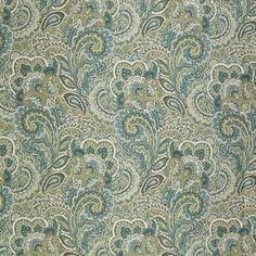 A8669 Sea Grass Fabric: C97, C47, PAISLEY, PAISLEY SCROLL, SCROLL, SCROLL…
