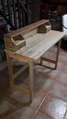 Mesa de escritorio rústica   Bricolaje