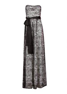 MANGO - Strapless lace dress