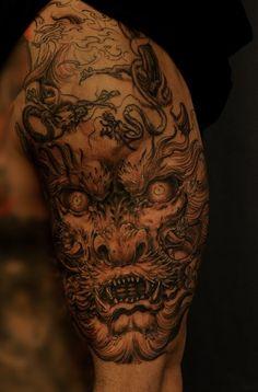 Dragon half sleeve, by Tony.