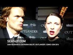 Sam Heughan & Caitriona Balfe OUTLANDER Interview San Diego Comic Con 2014 - YouTube