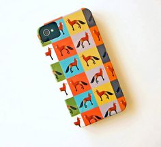 @Gina de Villiers Fox - I saw this and thought of you! It's an iPhone case!    FOX Color Block IPhone 4/4s case Multi pattern iPhone 5 case Colors yellow, pink, green, purple, blue redtilestudio. $36.00, via Etsy.