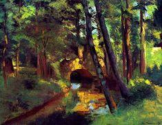 Camille Pissarro, The Little Bridge, Pontoise, 1875