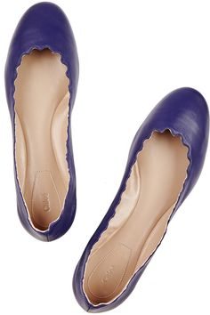 Chloé leather ballet flats in Royal Blue