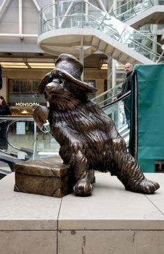 Paddington Bear: A good example of the benefits of a liberal immigration policy, this bear (birth name Pastuzo) arrived in 1958 at Paddington Station from darkest Peru without any documentation. Renamed after his point of arrival, he overcame this early obstacle to become a poster bear for the rebirth of Notting Hill. And marmalade. His hard stare was commemorated in bronze by Marcus Cornish in 2000. Paddington Station, W2.