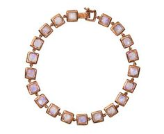 Nak Armstrong | Rainbow Moonstone Mosaic Link Bracelet in Designers Nak Armstrong Bracelets at TWISTonline