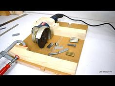 This angle grinder jig is not only easy to make it is easy to use. The 90 degree miter fence with stopblock lets you cut metal to the exact length. Great for...