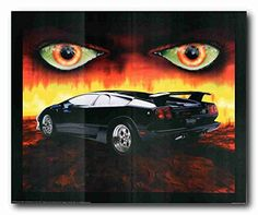 Absolutely wonderful! Grab this attractive wall poster for your home which would be surely add class and beauty to your walls and goes perfect with any decor style. This poster depicts the image of Lamborghini Burning Diablo eyes wicked classic car is sure to grab lot of attention. This poster is an ideal gift for every car lover. Get Up! Buy this wall poster for its durable quality with wonderful color accuracy.