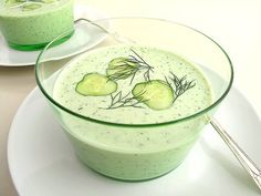 cold cucumber soup by The Gastronomer, via Flickr