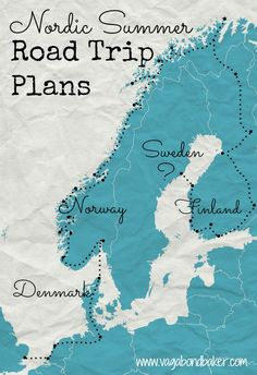 Nordic Summer Road Trip Plans: Denmark, Norway, Finland and Sweden. Chasing the White Nights of Midsummer.