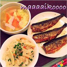 持って帰ってきた筍使い切ったったーーー(´Д` )もっと筍食べたいーーー(´Д` )(´Д` )(´Д` ) - 7件のもぐもぐ - 筍ご飯&鰯明太&野菜玉子スープ by maaaaikoooo