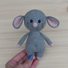 Free Amigurumi Patterns – Sayfa 5 – All free amigurumi crochet patterns and tutorials. Crochet Easter, Crochet Bunny, Free Crochet, Amigurumi Doll, Amigurumi Patterns, Crochet Patterns, Yarn Sizes, Crochet Hook Sizes, Crochet Mouse