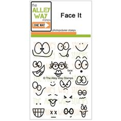 The Alley Way Clear Stamps FACE IT