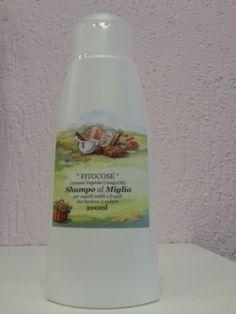 Soluzione detergente delicata a base di estratto di Miglio e di tensioattivi di derivazione vegetale (da Amido e olio di Cocco) indicata per capelli deboli e radi